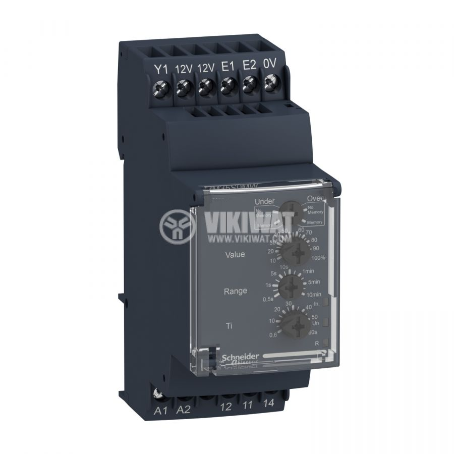 Контролно реле за скорост, RM35S0MW, 0.05s~10min, 24~240VAC/VDC, IP30, DIN - 1