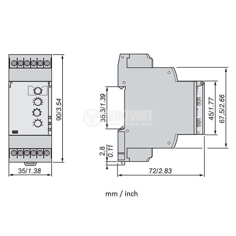 Контролно реле за скорост, RM35S0MW - 2
