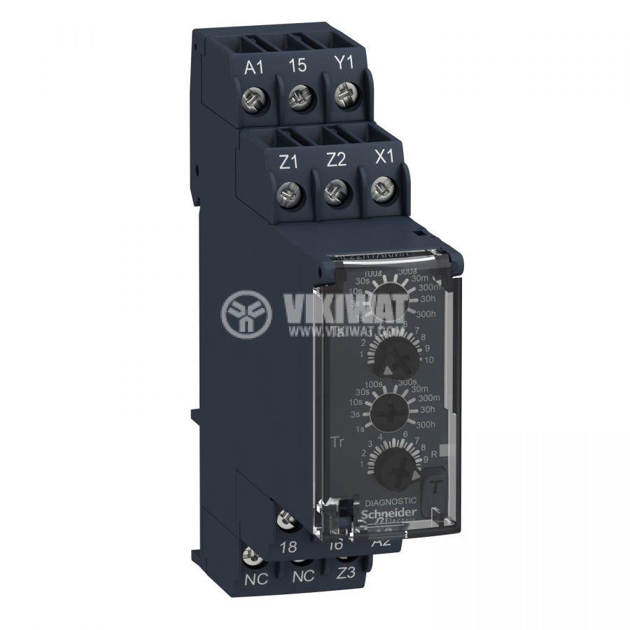 Реле за време RE22R1AKMR 24~240VAC 24~240VDC вкл. и изкл. със закъснение 0.05s-300h NO+NC 8A/250VAC