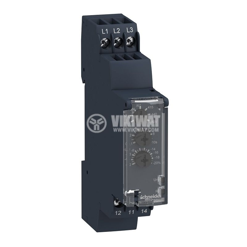Voltage monitoring relay RM17TA00, 208~480VAC, IP30, DIN - 1