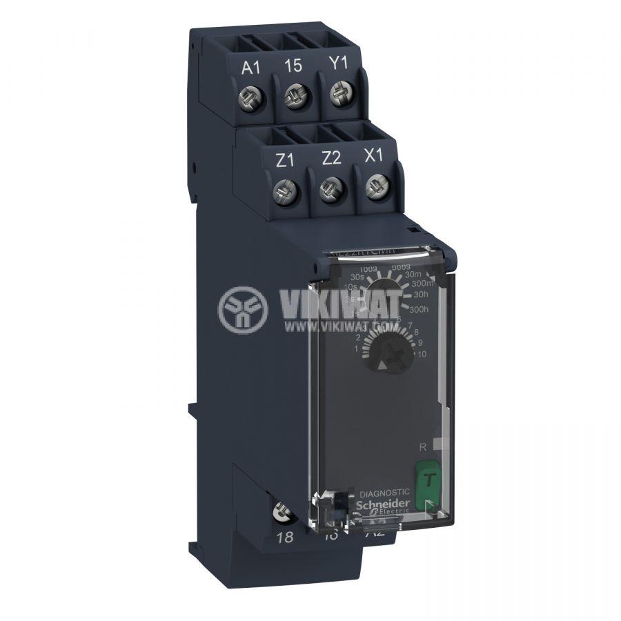 Реле за време RE22R1CMR изкл. със закъснение 24/24-240VDC/VAC 0.05s-300h NO+NC 8A/230VAC