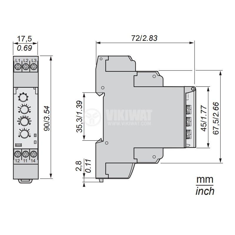 Контролно реле за напрежение RM17TE00 - 2