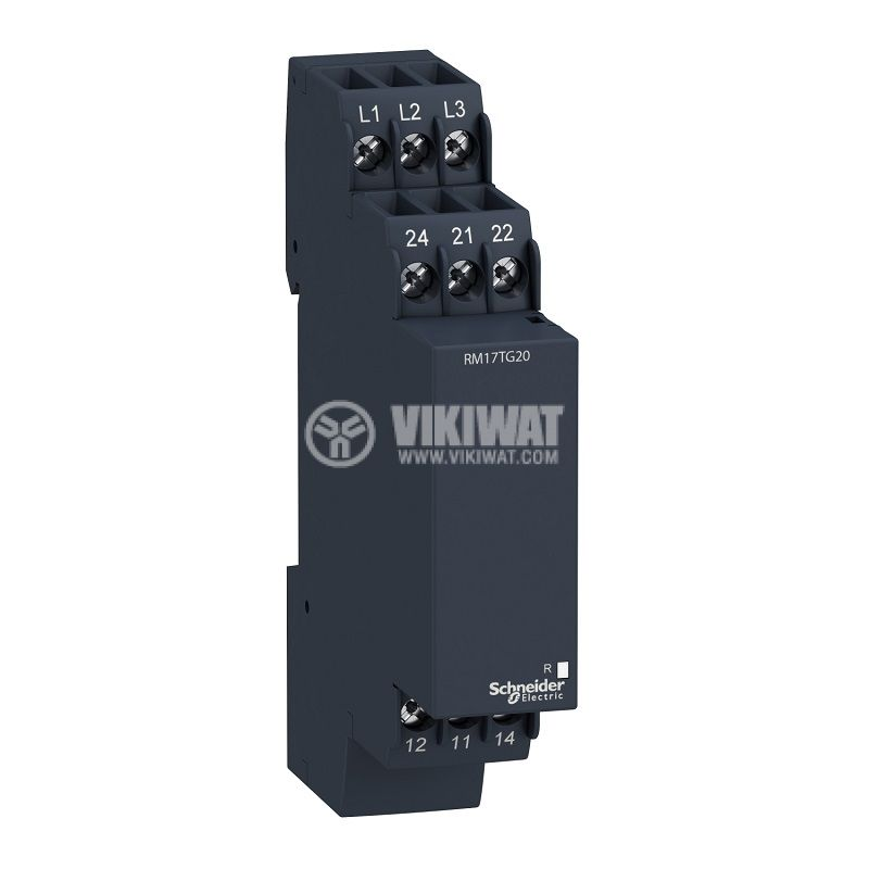 Контролно реле за напрежение, RM17TG20, 208~440VAC, IP30, DIN - 1