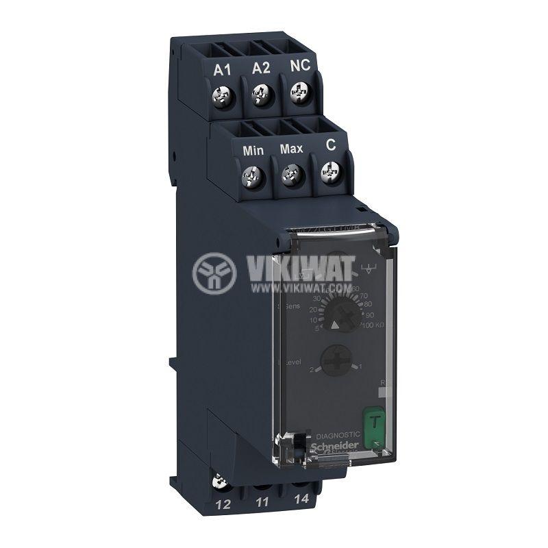 Level monitoring relay RM22LG11MR, 24~240VAC/VDC, IP40, DIN