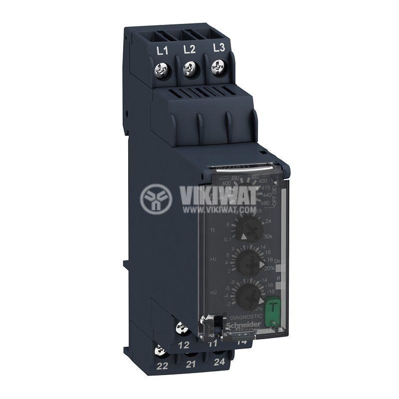 Контролно реле за напрежение, RM22TR33, 380~480VAC, IP40, DIN