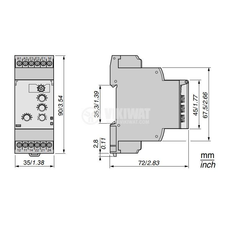 Контролно реле за ток RM35JA32MW - 2