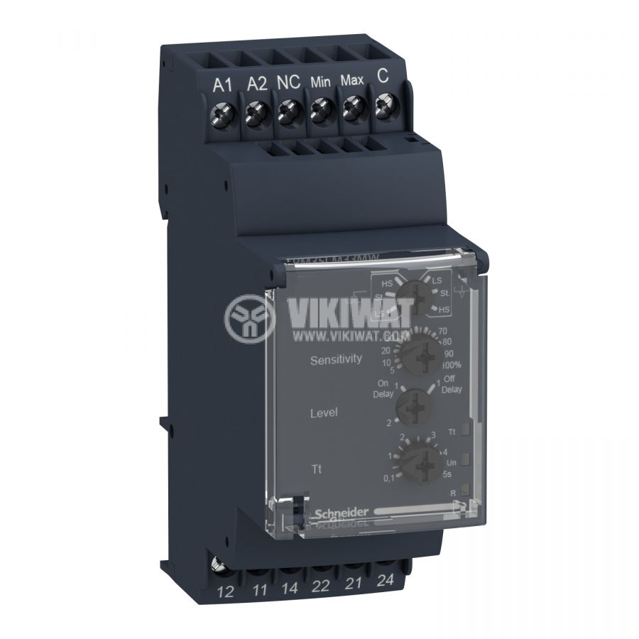 Level monitoring relay RM35LM33MW, 24~240VAC/VDC, 2xNO/NC, IP30, DIN - 1