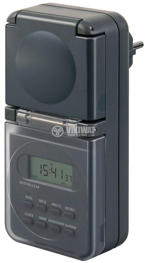 Седмичен електронен таймер, 24-часов, IP44, 16А, 230VAC, BDZ 44 DE 3655, Primera-Line, Brennenstuhl