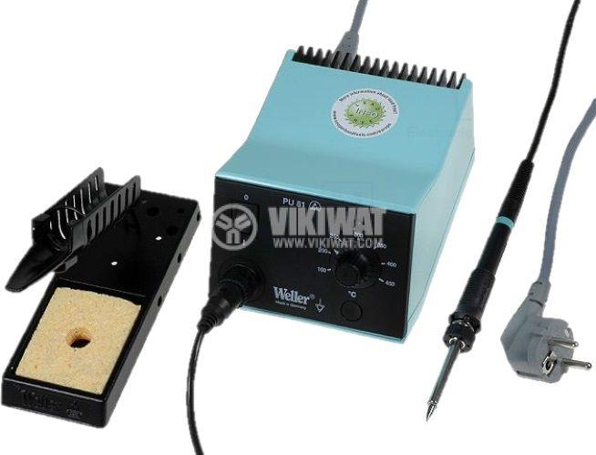 Станция за запояване 80W 150~450°C с поялник тип писалка и конусовидна човка - 2