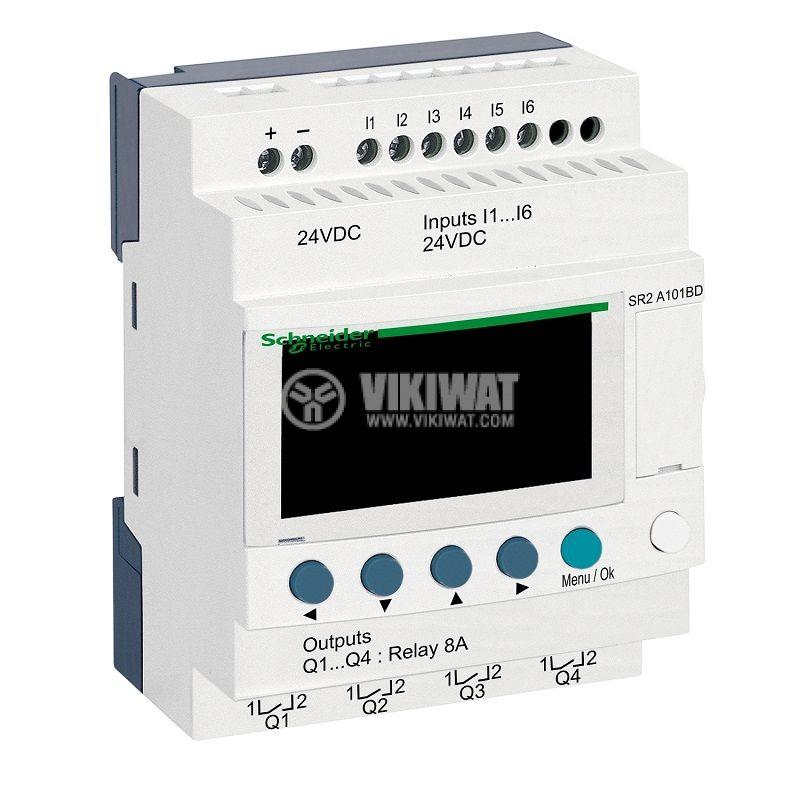 Реле програмируемо SR2A101BD, 24VDC, 6 входа, 4 изхода, DIN