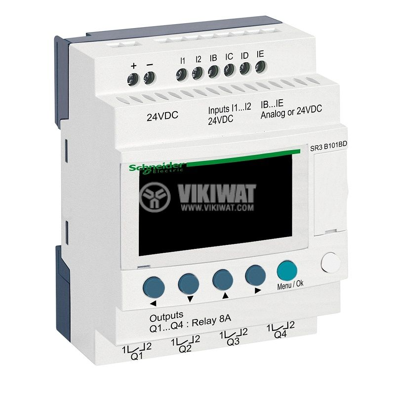 Реле програмируемо SR3B101BD, 24VDC, 6 входа, 4 изхода, DIN