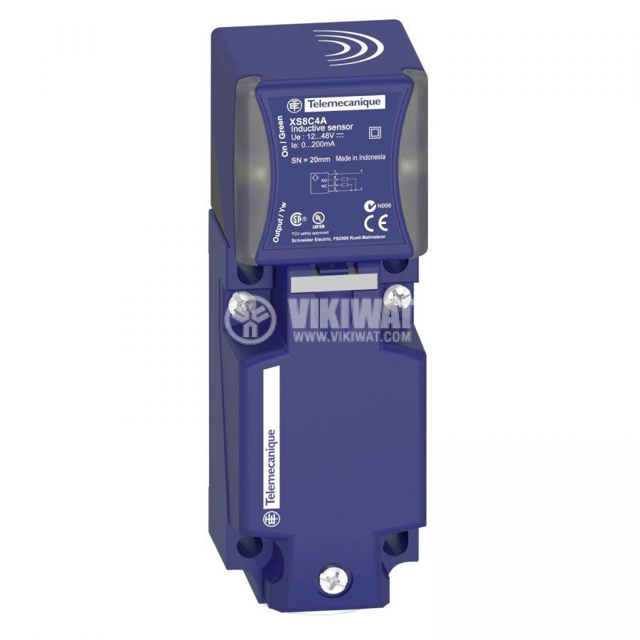 Индуктивен датчик XS8C4A4PCG13 12~48V PNP NO+NC 0~40mm неекраниран