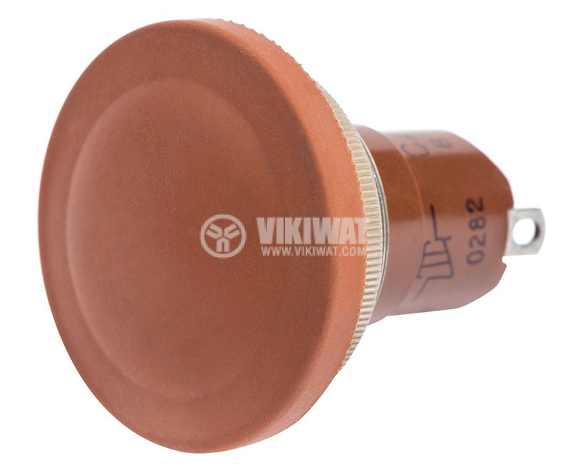 Switch Button, 5A/250VAC, SPST, brown - 2