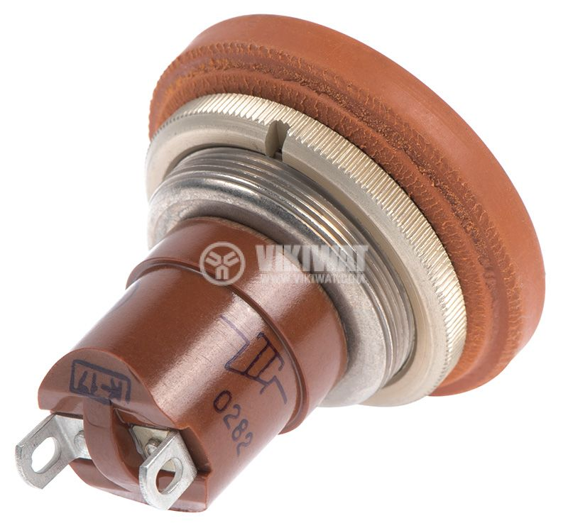 Switch Button, 5A/250VAC, SPST, brown - 3