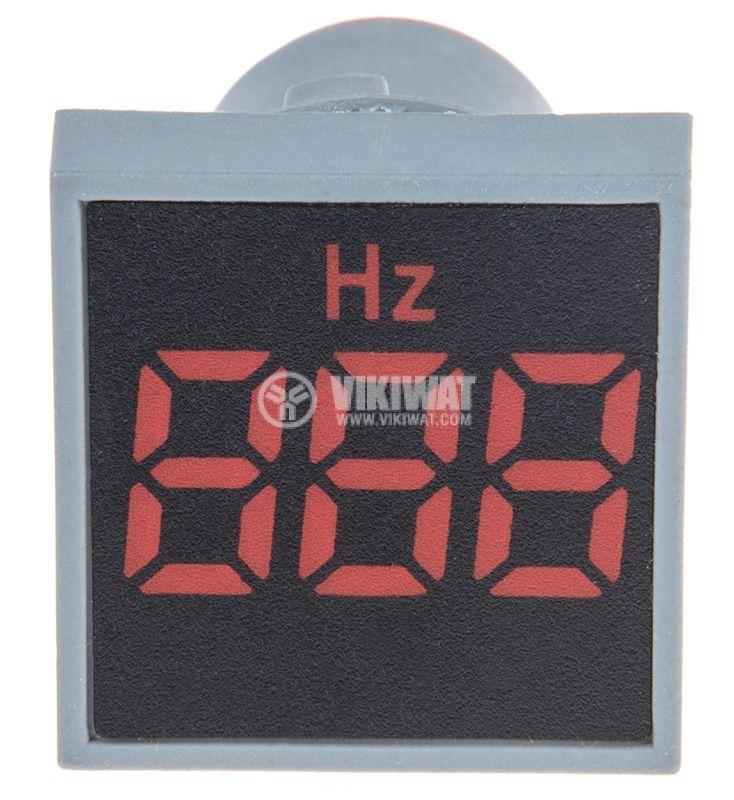 Дигитален честотомер 33~99Hz, 180~240VAC, EL-ED16S, ф22mm, квадратен - 1