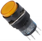 Button Switch type RAFI, LA139Y-22DT, 24VDC, DPDT - 2NO +2 NC