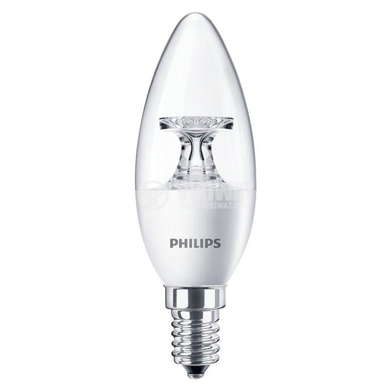 LED лампа CorePro LED candle, 5.5W, E14, 220VAC, 470lm, 2700K, топлo бяла - 1