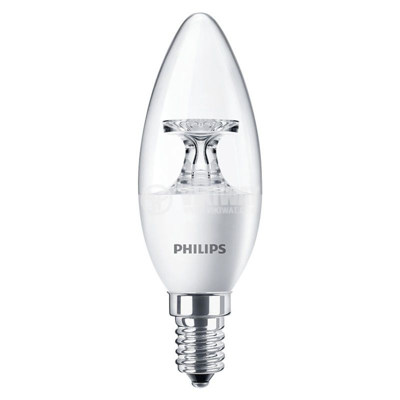 LED лампа CorePro LED candle, 5.5W, E14, 220VAC, 520lm, 4000K, неутрално бяла - 1