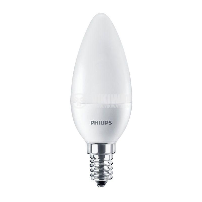 LED лампа CorePro LED candle, 7W, E14, 220VAC, 830lm, 6500K, студено бяла - 1
