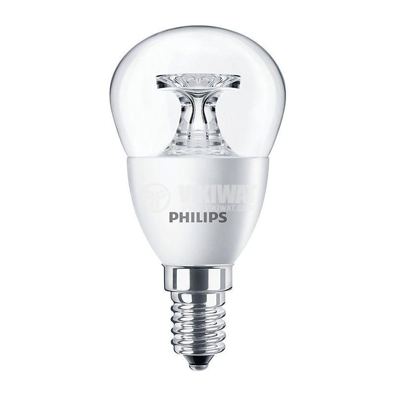 LED лампа CorePro LED lustre, 5.5W, E14, 220VAC, 470lm, 2700K, топлo бял - 1