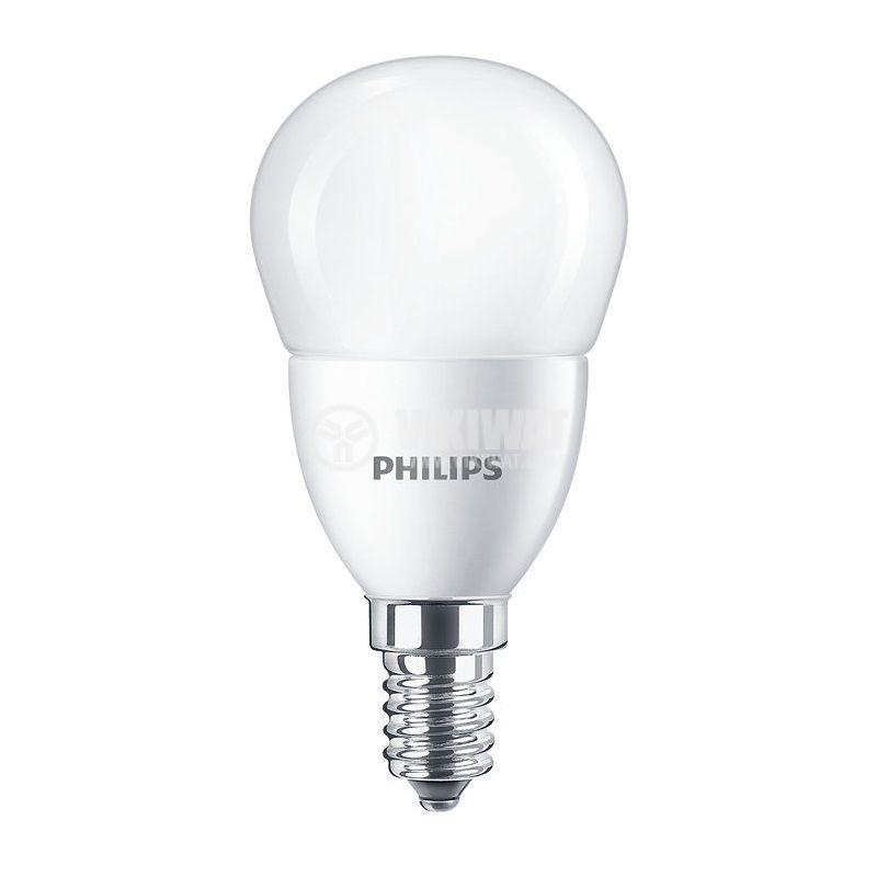 LED лампа CorePro LED lustre, 5.5W, E14, 220VAC, 520lm, 6500K, студено бяла - 1