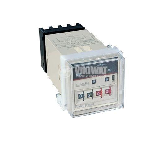 Time relay cyclic TE48S-S 220V NO+NC 3A/250VAC 0.01s to 99s 1min to 99min