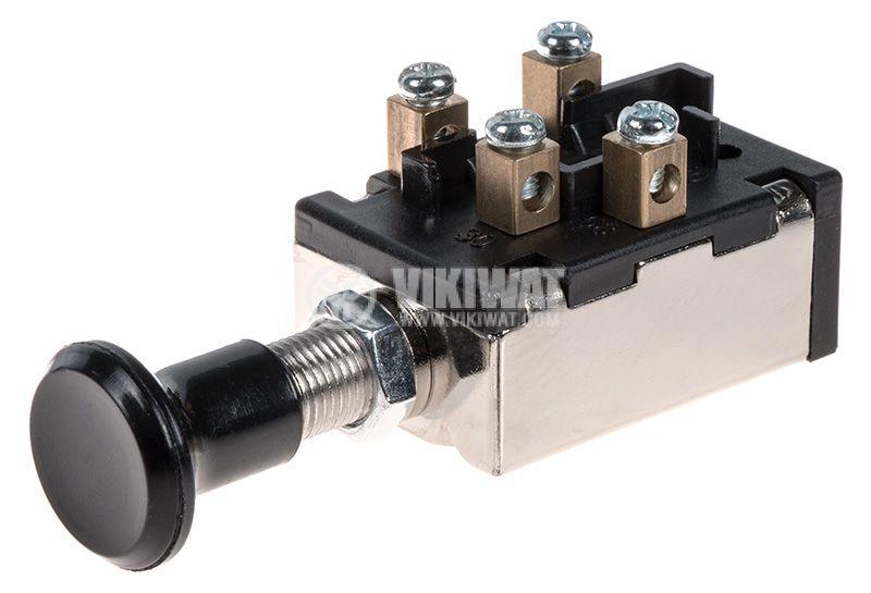 Бутонен превключвател, E2062B, OFF-ON-ON, 5А/12VDC, панелен монтаж - 1