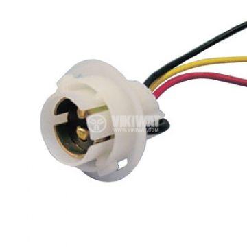 Цокъл BA15D с кабели - 1