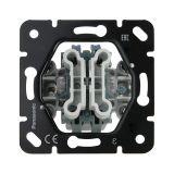 Механизъм за двоен ключ, (сериен), схема 5, за вграждане, 10A, 250VAC, Thea Blu, Panasonic, WBTM0109-5NC