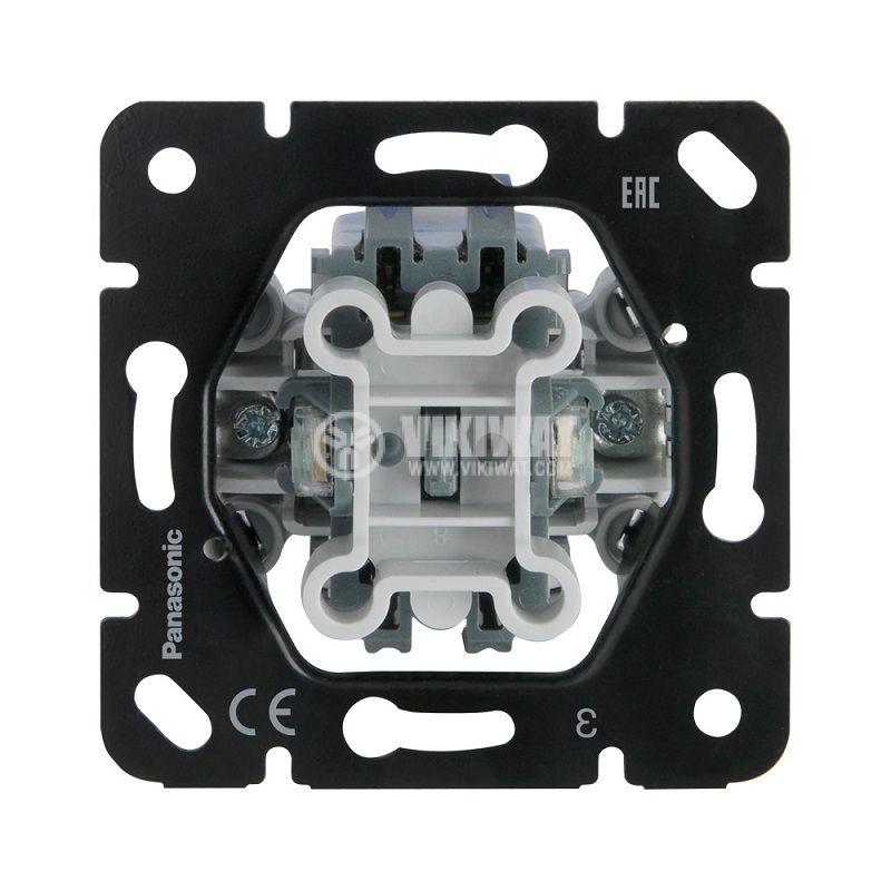 Single switch, illuminated, circuit 1, built-in, 10A, 250VAC, Thea Blu, Panasonic, WBTM0101-5NC - 1