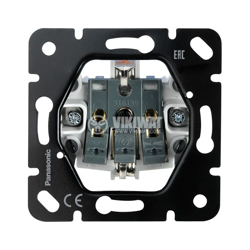 Механизъм за контакт шуко, 10A, 250VAC, за вграждане, Thea Blu, Panasinic, WBTM0312-5NC