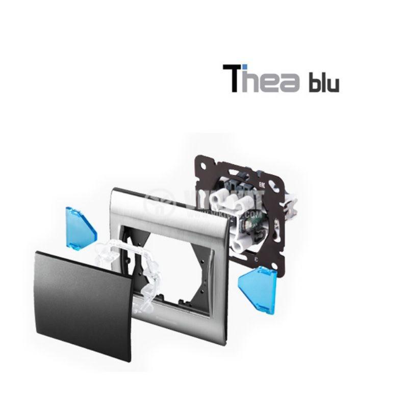 Единична рамка, Инокс, 84x94mm, Thea Blue, Panasonic - 2