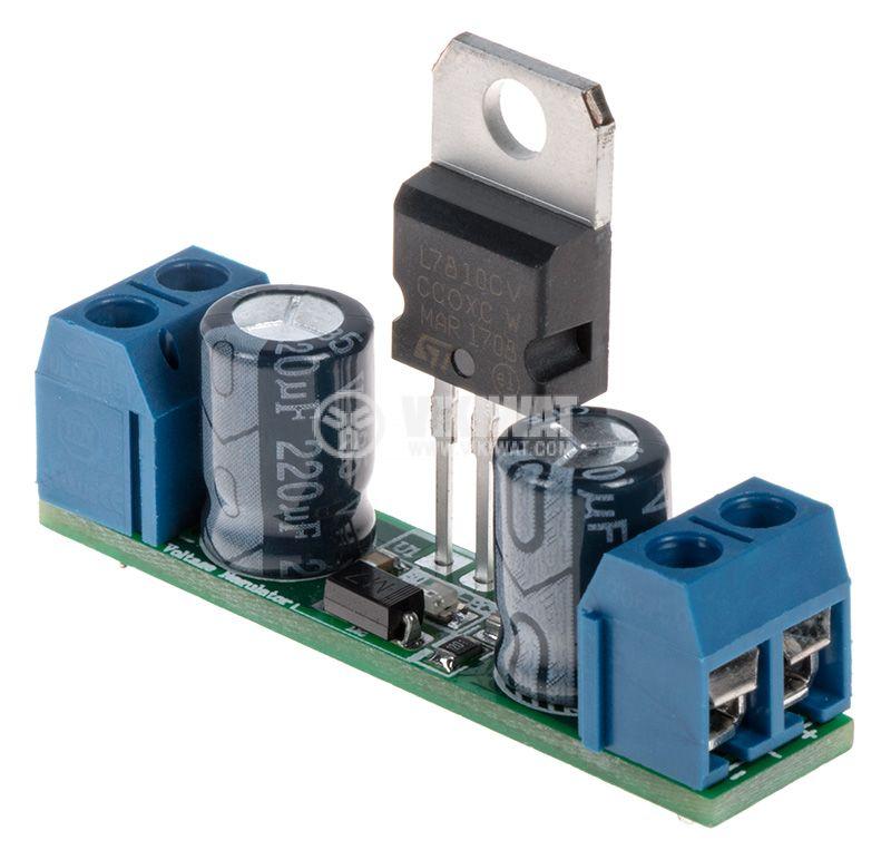 Стабилизатор на напрежение, 10VDC / 1A, 7810 - 1