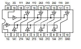 Интегрална схема 74LS241, TTL серия LS, 4-STAGE PRESETTABLE RIPPLE COUNTERS, DIP14 - 2
