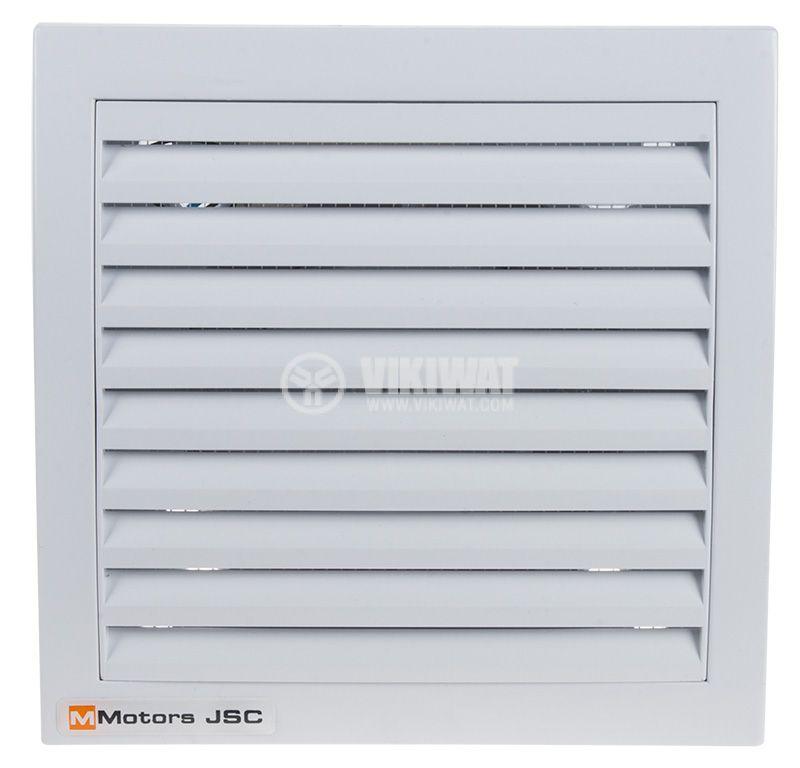 Вентилатор ф100mm, с клапа, 230VAC, 13W, 105m3/h, бял, с таймер, MM100 - 1