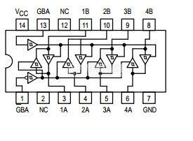 Интегрална схема 74LS243, TTL серия LS, QUAD BUS TRANSCEIVER, DIP14 - 2