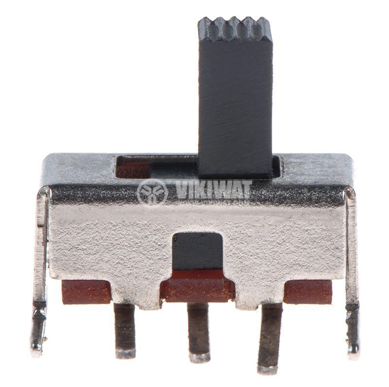 Превключвател 2 позиции, 0.5A/50VDC, 1P2T, ON-ON, THT - 2