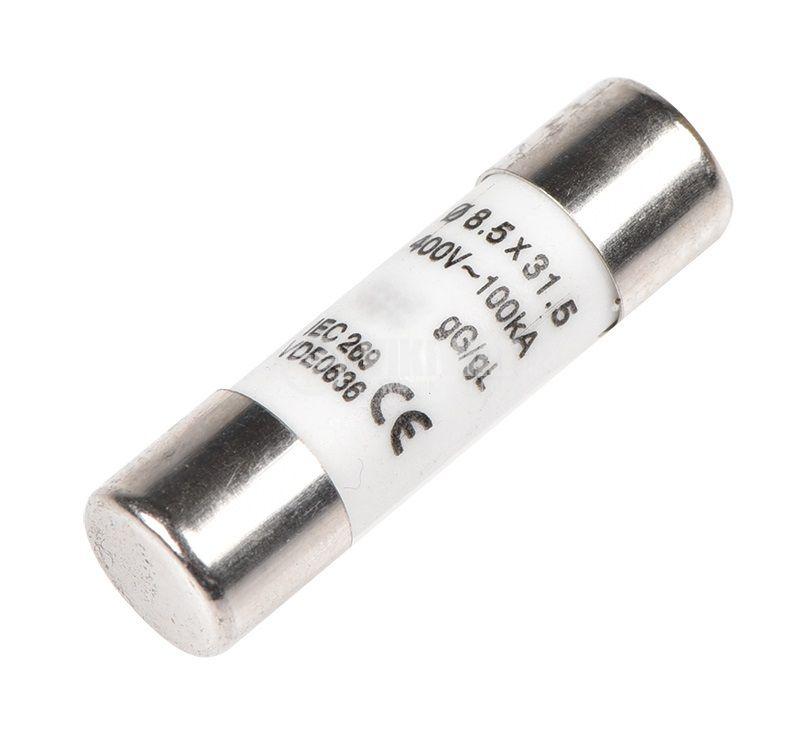 Предпазител стопяем, ф8.5х31.5, 25A, 400VAC, керамичен