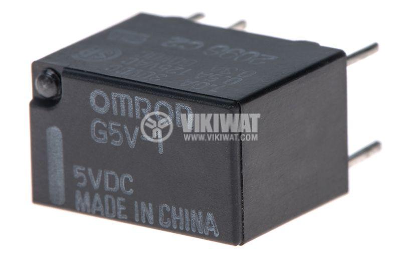 Реле електромагнитно G5V-1, бобина 5VDC, 0.5A/125VAC, SPDT, NO+NC - 1
