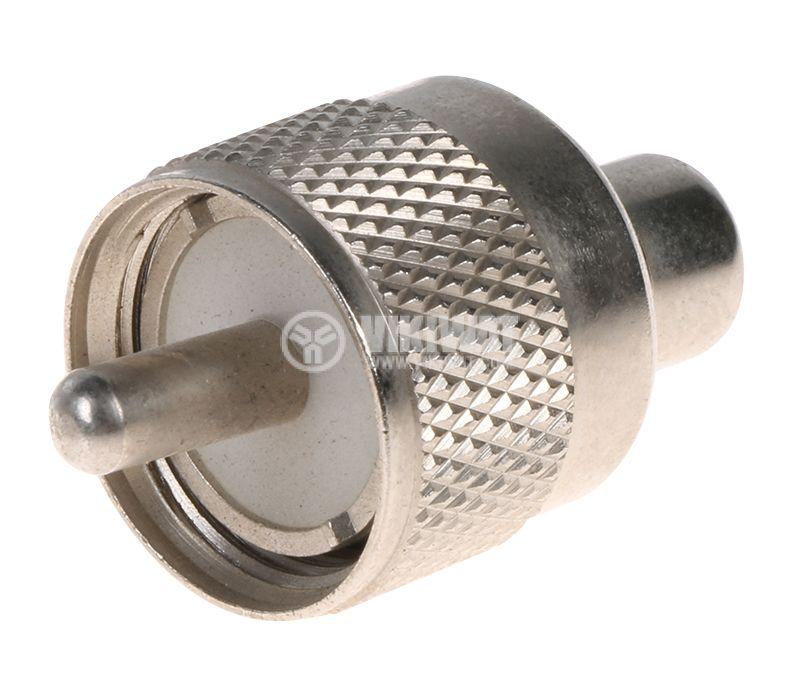 Конектор преходник от UHF/m към RCA/f  - 1
