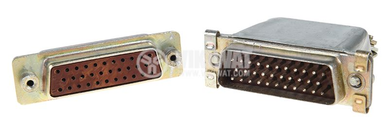 Military connector РП15-32, aluminum, set, male and female, 32 pins, 400V/5A - 1
