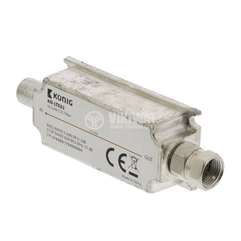 Филтър KN-LTE02, антенен, LTE, 694~862 MHz - 1