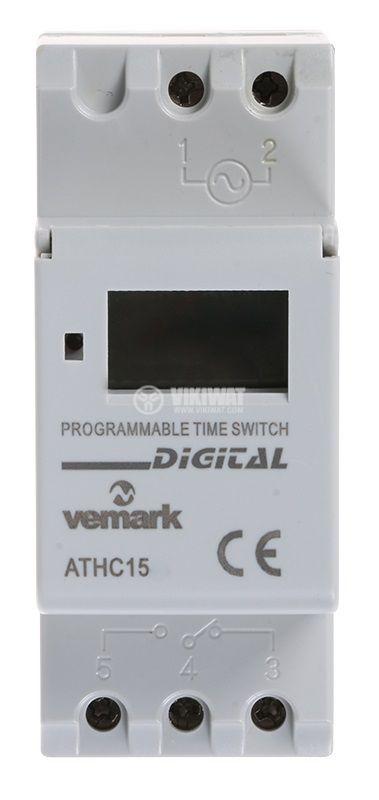 Таймер AHC15М, програмируем, седмичен, 24~240V DIN - 2