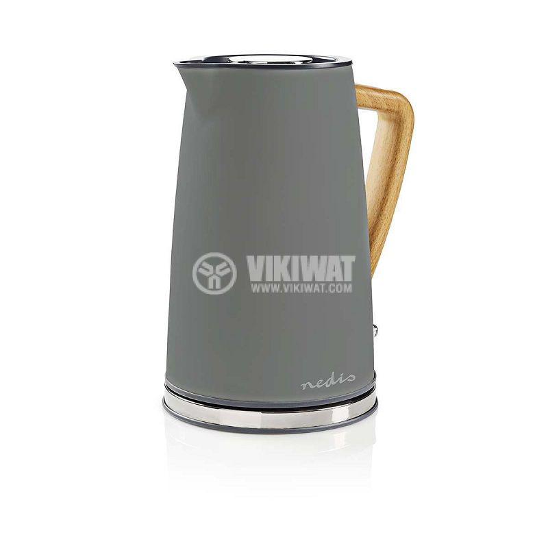Electric kettle KAWK510EGY, 1.7l, 1850-2200W, 230VAC, gray - 4
