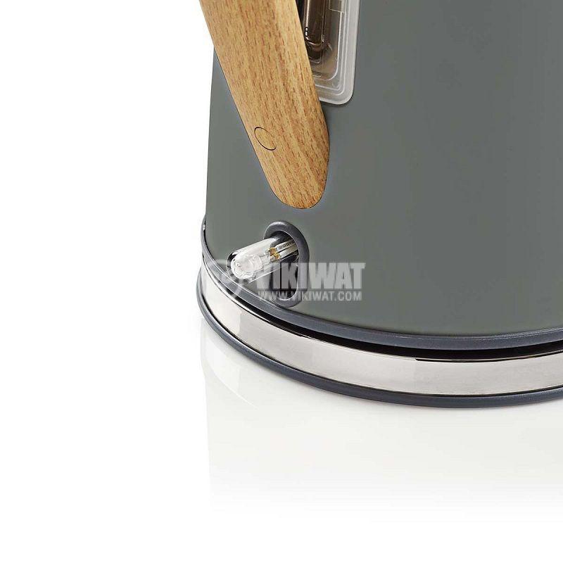 Електрическа кана KAWK510EGY, 1.7l, 1850-2200W, 230VAC, сива - 5