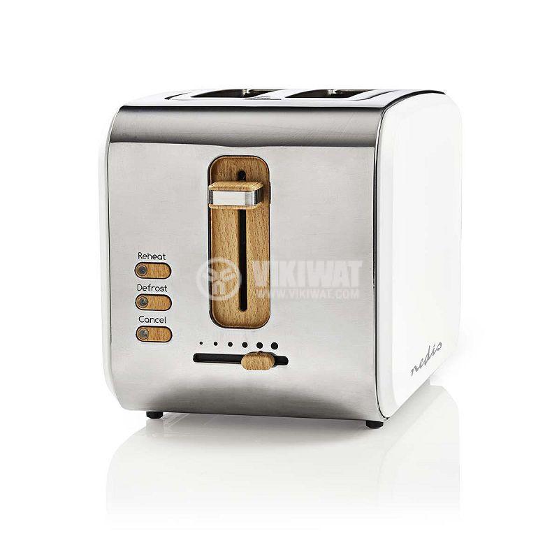 Тостер KABT510EWT, 900W, двоен, 6 степени, 3 функции, 230VAC, бял/сив - 1