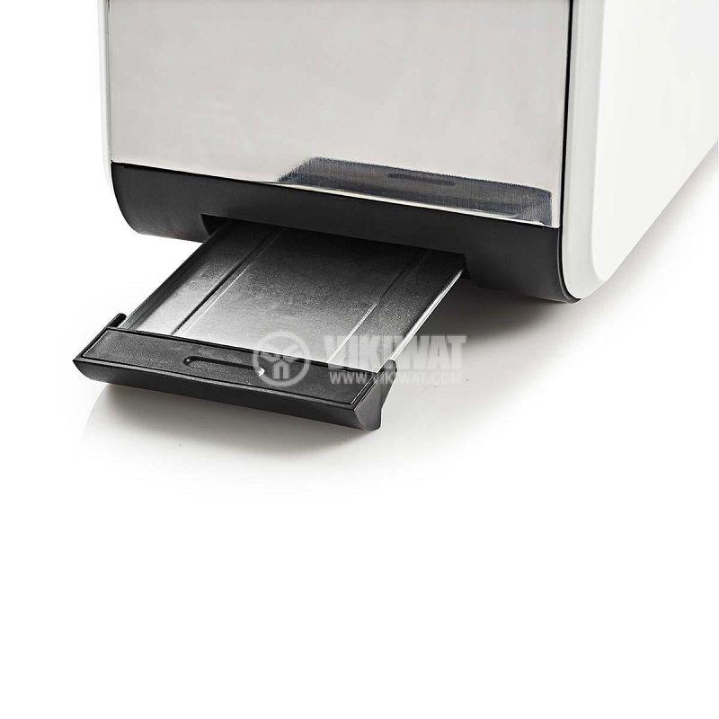 Двоен тостер за филийки стомана/дърво KABT510EWT, 900W, 6 степени, 3 функции, NEDIS - 3