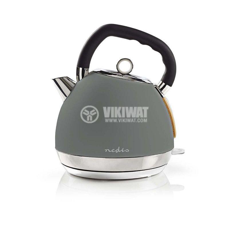 Електрическа кана, 1.8l, 2200W, 230VAC, тип чайник, KAWK520EGY, сива - 1