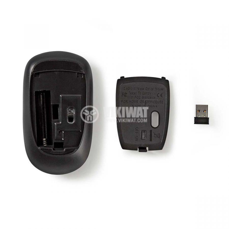Безжична мишка Nedis MSWS500PK 3 бутона розова с покритие от плат - 7