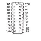 Интегрална схема 74LS356, TTL серия LS, 8-LINE TO 1-LINE DATA SELECTORS/MULTIPLEXERS/REGISTERS, DIP20 - 2